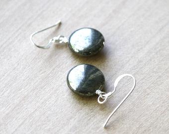 Pyrite Earrings for Inner Strength and Abundance