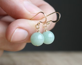Green Aventurine Earrings for Prosperity and Perseverance