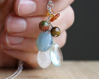 Personal Intention Necklace for Emotional Support and Relaxation
