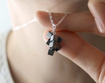 Hematite Necklace for Anxiety Relief