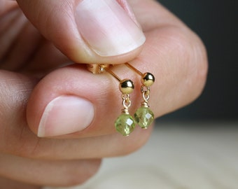 Peridot Studs for Motivation and Cleansing