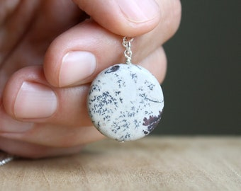 Natural Jasper Necklace for Introspection and Guidance NEW
