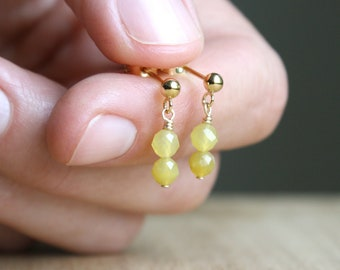 Natural Yellow Opal Studs for Ingenuity and Forward Thinking NEW