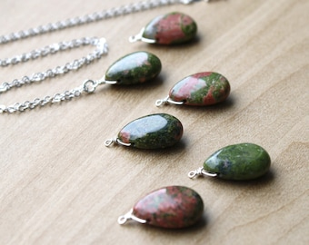 Unakite Necklace for Dissolving Boundaries and Rebirth