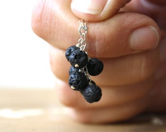 Essential Oil Diffuser Necklace . Lava Rock Necklace
