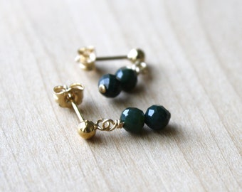 Bloodstone Studs for Courage and Heightening Intuition