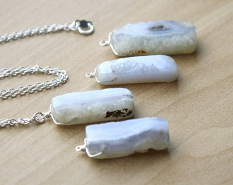 Blue Chalcedony Necklace for Harmony and Negative Energy Protection