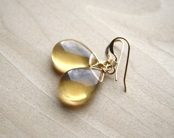 Yellow Fluorite Earrings for Clarity and Concentration