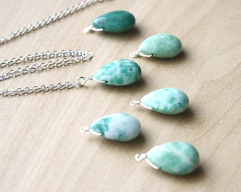 Tree Agate Pendant Necklace for Inner Peace and Composure