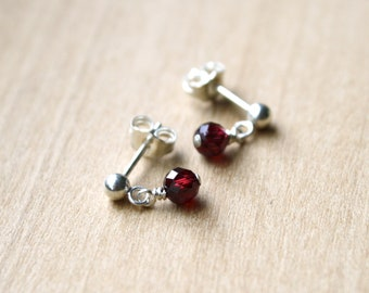 Natural Garnet Earrings for Self Love and Courage Under Pressure