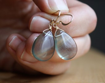 Green Fluorite Earrings for Objectivity and Heightening Intuition