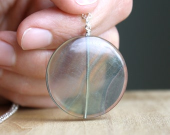Rainbow Fluorite Necklace for Focus and Bringing Order to Chaos