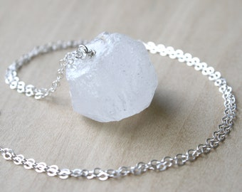 White Quartz Necklace for Healing and Harmony