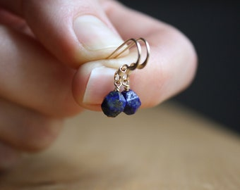 Lapis Lazuli Earrings in 14k Gold Fill for Good Judgement and Understanding NEW