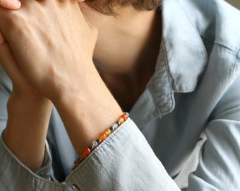 Natural Carnelian Bracelet for Motivation - Transforming Anxiety Collection