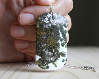 Ocean Jasper Necklace for Strength and Protection