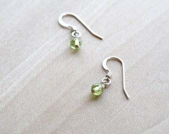 Natural Peridot Earrings for Motivation and Positive Energy NEW