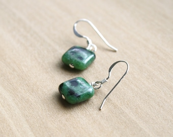 Ruby Zoisite Earrings for Cleansing and Vitality