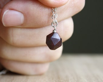 Garnet Drop Necklace for Hope and Love NEW