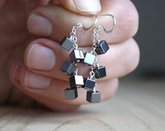 Hematite Earrings for Anxiety Relief and Grounding