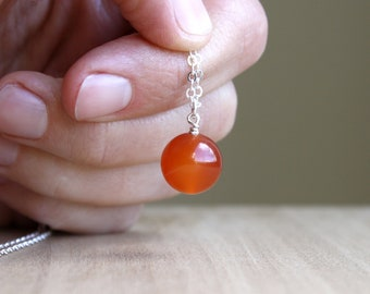 Natural Carnelian Necklace for Motivation and Success NEW