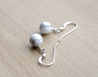 White Howlite Earrings for Calm and Creativity