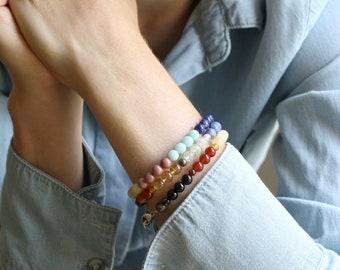 Natural Stone Chakra Bracelet - You Choose NEW