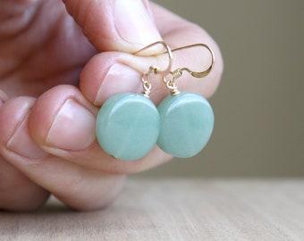 Green Aventurine Earrings for Perseverance and Prosperity