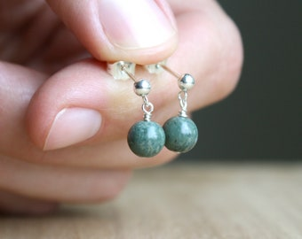 Kambaba Jasper Studs for Soothing Energy and Comfort NEW
