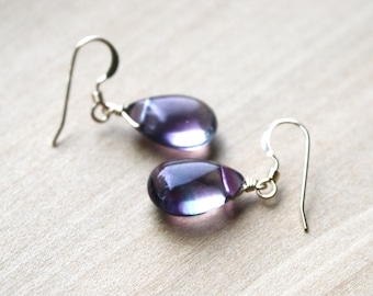 Rainbow Fluorite Earrings in 14k Gold Fill for Evenness and Concentration