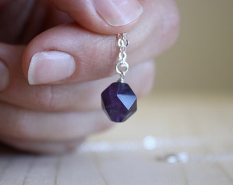Natural Amethyst Necklace for Protection and Anxiety Relief