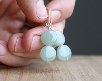 Green Aventurine Earrings for Prosperity and Confidence