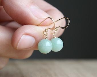 Green Aventurine Earrings for Prosperity and Strength NEW