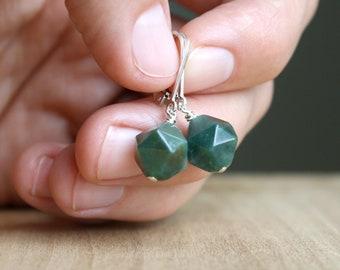 Moss Agate Earrings for Prosperity and Abundance NEW