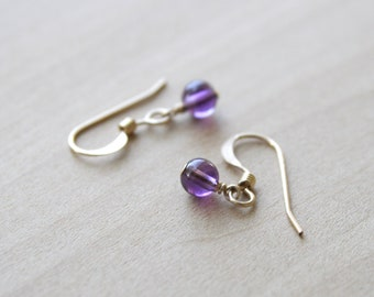 Natural Amethyst Earrings for Protection and Motivation