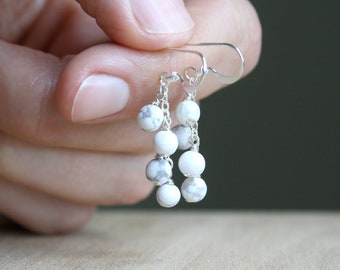 White Howlite Earrings for Anxiety Relief and an Open Mind