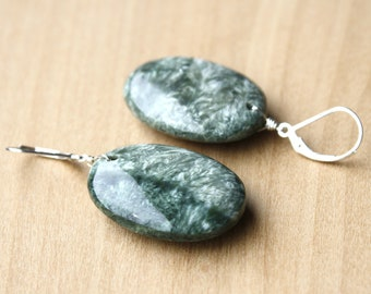 Seraphinite Earrings for Becoming your Highest Self