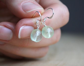 Prehnite Earrings for Unconditional Love and Peace