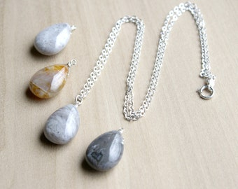 Natural Agate Necklace for Balance and Stability