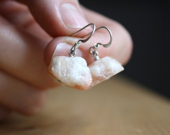 Raw Sunstone Earrings for Heightening Intuition and Inspiring Joy