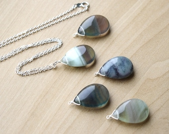 Green Fluorite Necklace for Intuition and Mental Cleansing