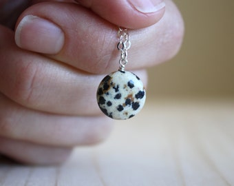 Dalmatian Stone Necklace for Freedom and Adventure