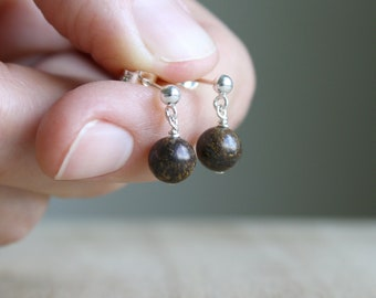 Bronzite Studs for Self Esteem and Increased Decision Making