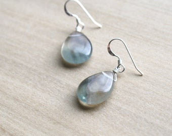 Green Fluorite Earrings for Clarity and Focus NEW