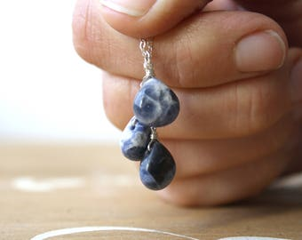 Blue Sodalite Necklace for Intuition and Creativity