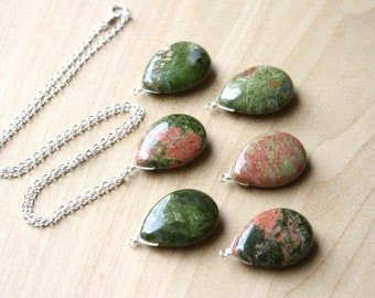 Unakite Necklace for Calming Energy NEW