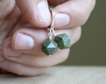 Cuprite Crystal in Jasper Earrings for Vitality and Energy