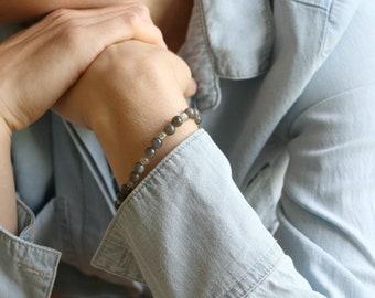 Labradorite Bracelet for Transformation and Aid in Meditation