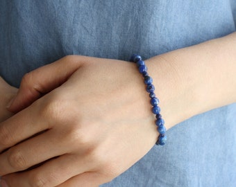 Lapis Lazuli Bracelet for Solid Judgement and Wisdom