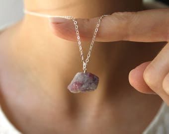 Sterling Silver Tourmaline Necklace . Soothing Stone for Comfort and Relaxation
